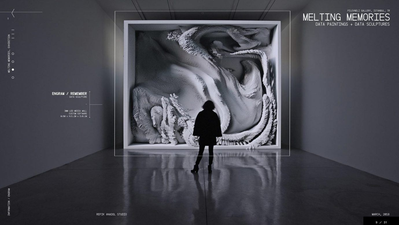 Refik Anadol Studio - Melting Memories Installation