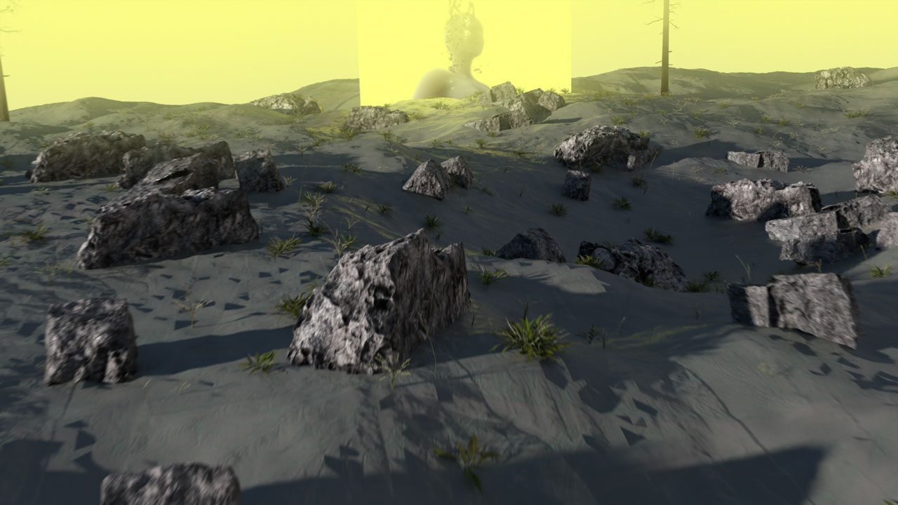 artificial intelligence - rocky yellow landscape